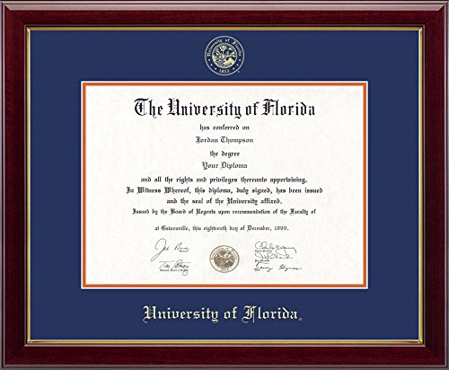 Church Hill Classics University of Florida Gold Embossed Diploma Frame - Solid Hardwood