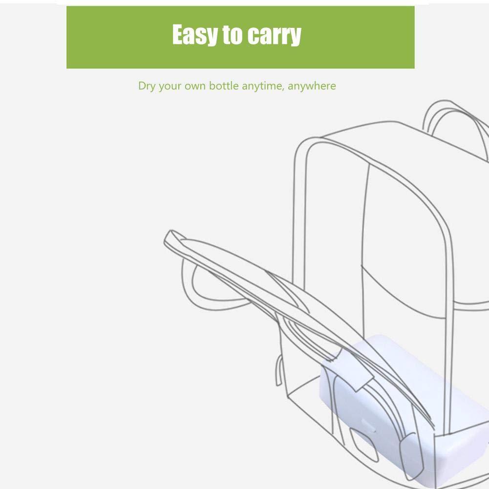 EZIZB Kit De Nettoyage pour Biberon avec Couvercle Anti-poussi/ère S/échoir pour Bouteilles Et Accessoires pour Bouteilles /Égouttoir /À Biberon S/échoir /Égouttoir Porte-Bouteille
