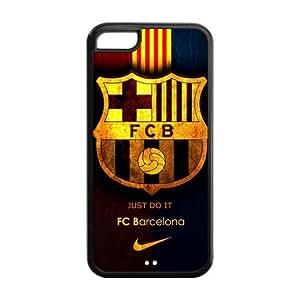Retro FC Barcelona Apple Iphone 5C Case Cover TPU Futbol Club Barce by Maris's Diary