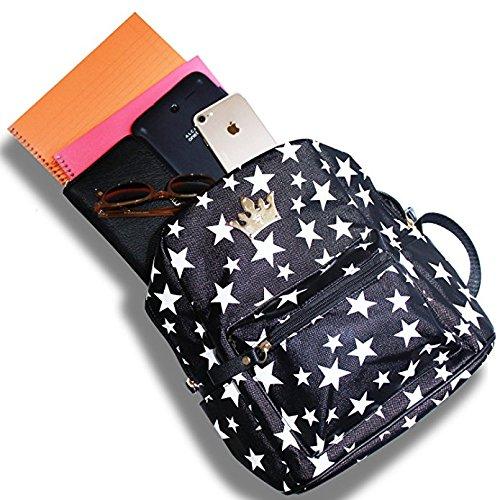 OK-Fashion Leather Satchel School Shoulder Bag, Shoulder Backpacks Bags for Hiking or Multipurpose Daypacks and School Handbag for Women