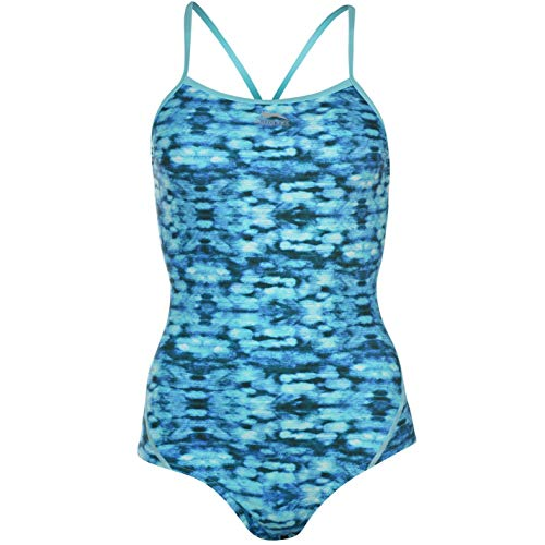 95ad96557f Maru Womens Groove Pacer Swimsuit Swimming Suit Swimwear Blue/White 16 (XL)