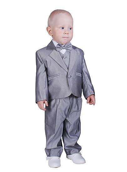 3d9c69f46aef3 Costume bébé complet gris mariage baptême - Gris - 3 mois - PRODUIT STOCKÉ  ET EXPÉDIÉ