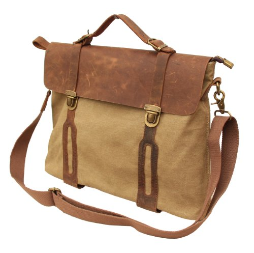 Gootium 30311KA Cotton Canvas Full Grain Leather Cross ...