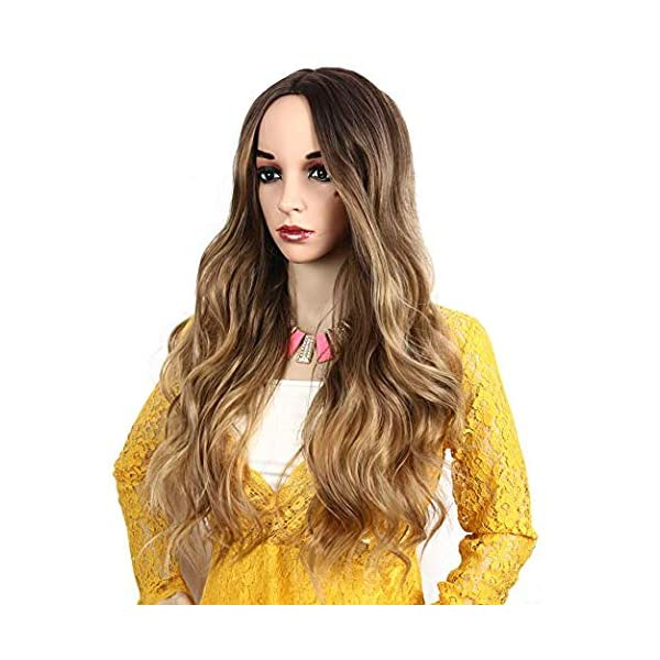 516eOCIEIFL IVY HAIR Scarlet Witch Wanda Maximoff Cosplay Wigs for Women Natural Long Wavy Curly Wig Dark Roots Ombre Blonde Wig…
