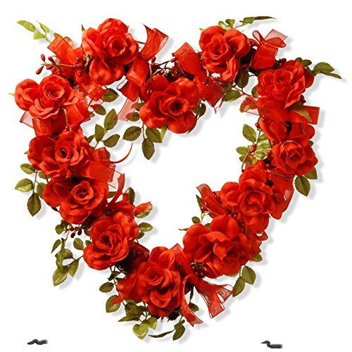 Valentine Heart Synthetic Decoration Rose (Spice Berry Garland)