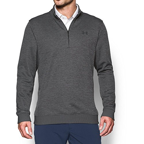 Under Armour Men's Storm SweaterFleece Patterned ¼ Zip,True Gray Heather/Rhino Gray, Medium by Under Armour