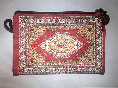 Oriental Carpet Woven Coin Change Purse- Agra Collection