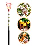 EnergeticSky 13-Foot Fruit Picker with Light-Weight Aluminum Telescoping Pole and Bruise Free Basket for Apple,Pear,Peach,Orange and More Peach Harvesting,Handy 5 Section Extension Pole