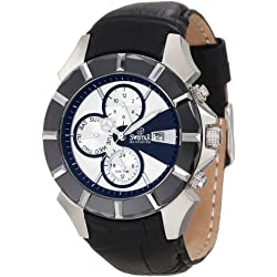 Swistar Men's 5651-1M Swiss Quartz Stainless Steel Dual Time Dress Watch
