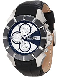 Swistar Men's 5651-1M Swiss Quartz Stainless Steel Dual Time Dress Watch