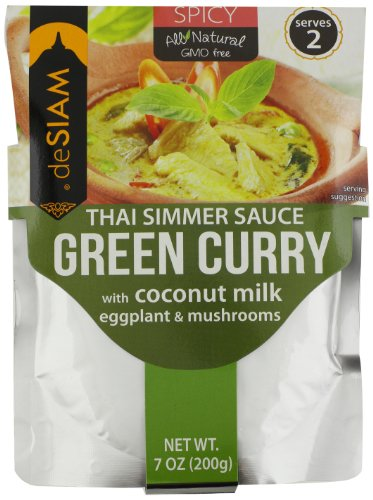 deSIAM Thai Simmer Sauce, Green Curry, 7 (Thai Green Curry Sauce)