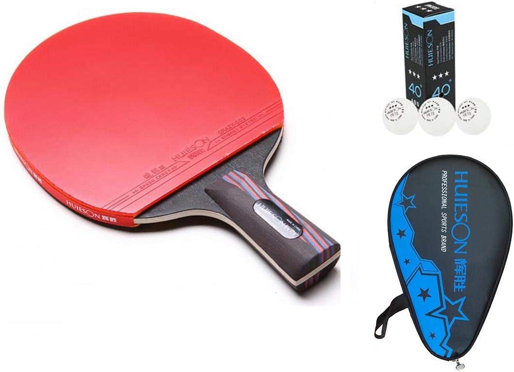 HUIESON de profesión Defensa Raqueta de Tenis de Mesa carbonización de la Madera Entrenamiento o Competencia Tabla Bate de Tenis Ping Pong Paddle