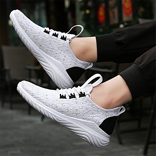 Athletic Soles HUAN White up Spring Outdoor Gray for Walking Shoes Canvas White Lace Men's 43 Fall Size Summer Light Shoes Color Athletic Shoes T40r4qwZg