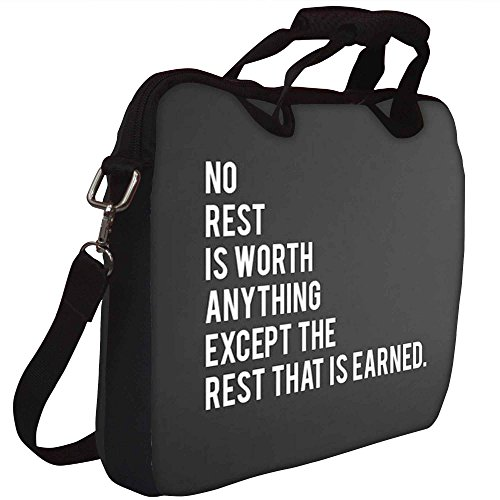 Snoogg sein, dass verdient Gedruckt Notebook-Tasche mit Schultergurt 15 bis 15,6 Zoll