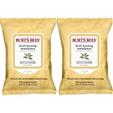 Facial Cleansing Wipes Natural - Burt's Bees Facial Cleansing Towelettes, White Tea Extract, 30 Count , 2 Pack
