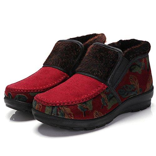 Alto Infilare Calzature Per Inverno Cotone Al Nonna Aiutare Scarpe Vecchio Gules Anziana In Le Madre Khskx fRSEqP