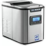 MRP US Portable Ice Maker Stainless Steel Ice Machine ICE702 With 3 Selectable Cube Size (New)