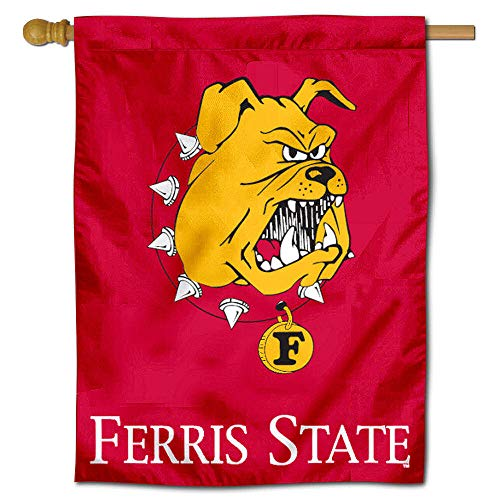 (College Flags and Banners Co. Ferris State University Bulldogs House Flag)