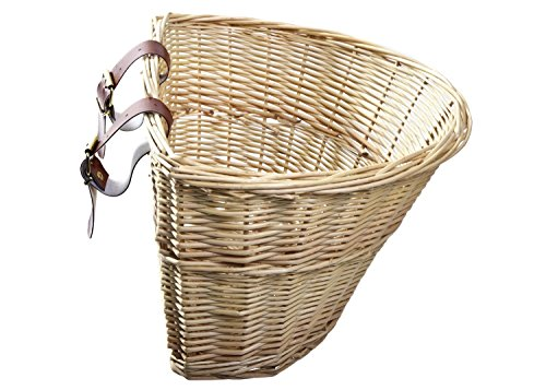 ProSource Wicker Front Handlebar Bike Basket Cargo (Schwinn Bicycle Basket)