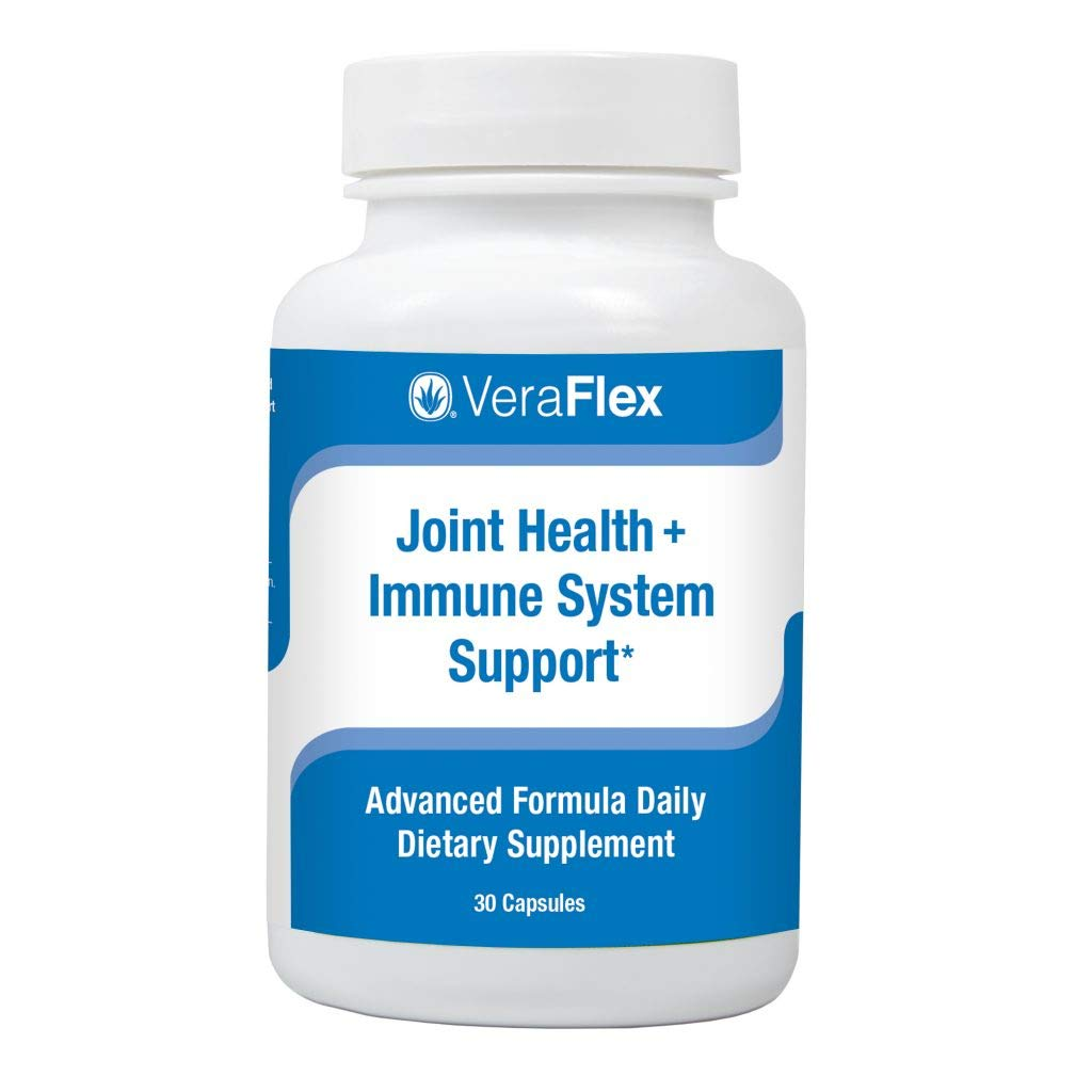 VeraFlex by AloeCure Clinically Proven Ingredients to Relieve Joint discomfort, Stiffness, and Mobility Starting in 3 Days. 1 a Day Tablet. 30 Day Supply. by AloeCure