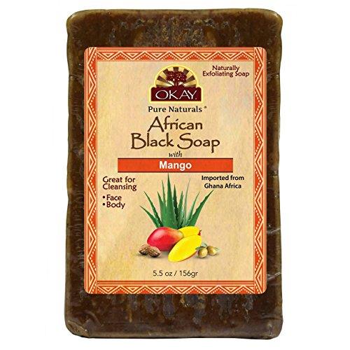 OKAY African Black Soap Mango, Mango, 5.5 - Soap Mango African