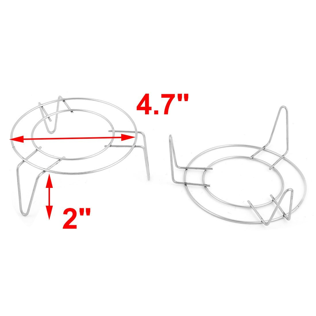 Amazon.com: eDealMax acero inoxidable Inicio 3 piernas Diseño Estante de alimentos al vapor Vapor soporte 12cm 2pcs Dia: Kitchen & Dining