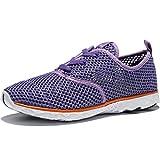 KENSBUY Women's Mesh Slip on Aqua Water Shoes Lightweight Quick Drying Walking Shoe Athletic Sport Beach (EU37 Purple)