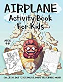 Airplane Activity Book for Kids Ages 4-8: A Fun Kid
