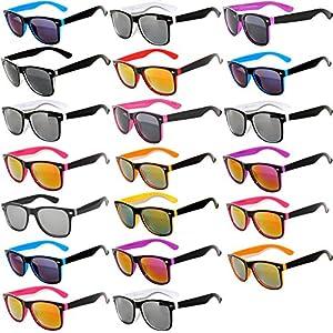20 Pieces Per Case Wholesale Lot Glasses. Assorted Colored Frame Fashion Sunglasses.Bulk Sunglasses - Wholesale Bulk Party Glasses, Party Supplier