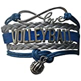 Infinity Collection Volleyball Bracelet - Volleyball Jewelry - Perfect Volleyball Gifts for Players