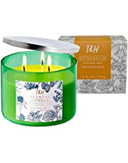T&H Citronella Candles Outdoor Indoor Portable Travel tin 2 Pack Gift Set Pure Soy Wax Gift Set 60 Hour Burn Highly Scented Long Lasting