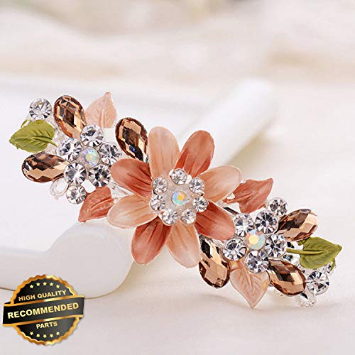 Gatton Premium New Flower Crystal Rhinestone Hair Barrette Clip Hairpin Women Girl Hair Accessories | Style HRCL-M182012203 ()