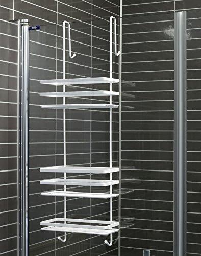 B - Ware in weiß Leichte Kratzer oder fehler Duschkabinen Hängeregal 3 Etagen ohne Bohren Duschablage Badregal Duschregal