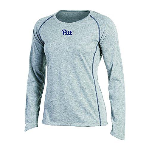- Champion NCAA Women's Long sleeve Crew Neck Raglan T-Shirt, Pittsburgh Panthers, Medium, Gray Heather