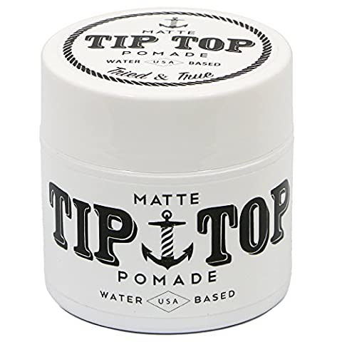 Tip Top Matte Water Based Medium Hold Pomade 4.25oz (Top Products)
