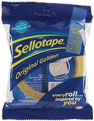 6 Rolls of Sellotape Original Golden Tape 24mm x 66m