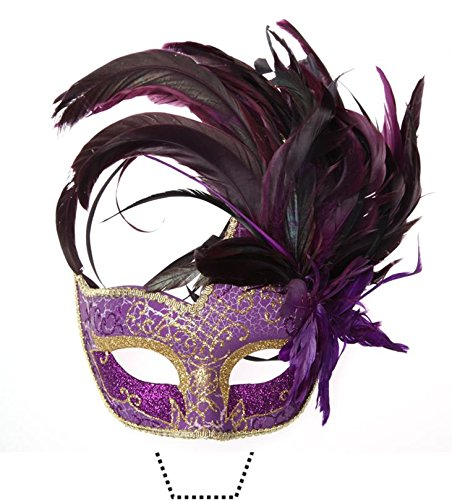 Novelty Masquerade Mask Purple 12 Edible Stand up wafer paper cake toppers (5 - 10 BUSINESS DAYS DELIVERY FROM UK)