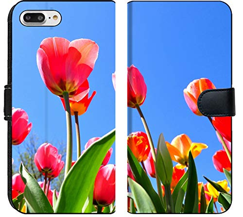 Apple iPhone 8 Plus Flip Fabric Wallet Case Image ID 19452124 Colorful Tulip Garden in Boston Public Garden USA