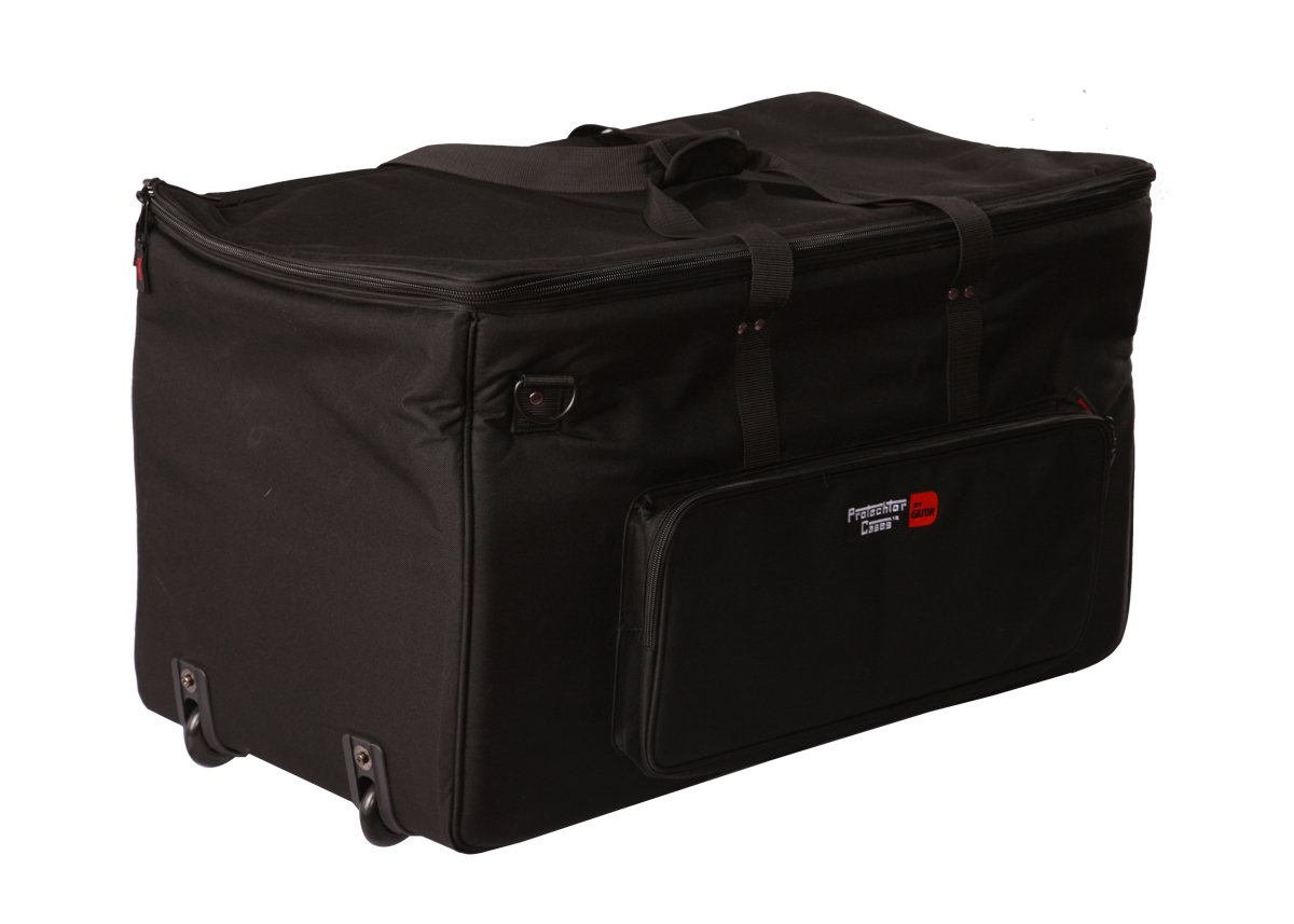 Gator Cases Large Electric Drum Kit Bag with Adjustable Velcro Divider System and Wheels; (GP-EKIT3616-BW)
