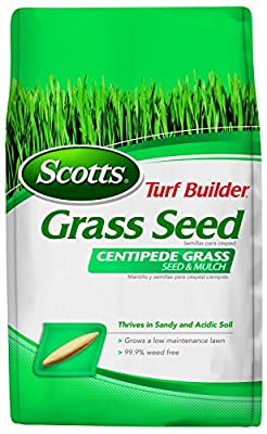 Scotts 18365 Turf Builder Centipede and Mulch Grass Seed (6 Pack), 5 lb