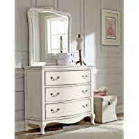 Hillsdale Kids and Teens 20505NDM Kensington 3 Drawer Dresser with Mirror, Antique White