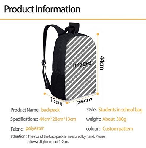 FOR U DESIGNS Children Backpack Set 3 Piece Wolf Head Lunch Handbag Cotton Pencil Case by FOR U DESIGNS (Image #3)