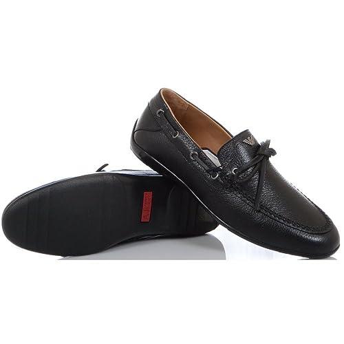Armani Mocasines diseño de tela vaquera funda de piel A6535 91 - negro, color negro, talla 40: Amazon.es: Zapatos y complementos