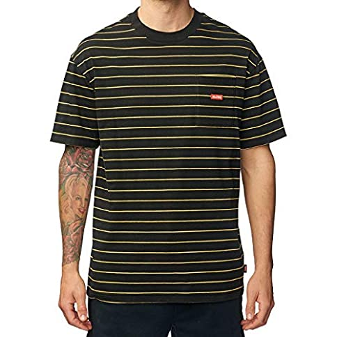 - 516eUDxUkIL - Globe Men's Bar Stripe Tee