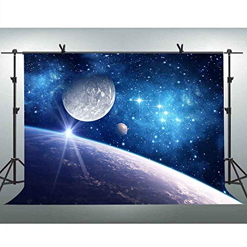 - FLASIY 10x7ft Cosmic Starry Sky Photography Background Galaxy Stars Planet Backdrop for YouTube Video Photo Studio Shooting Props AY170