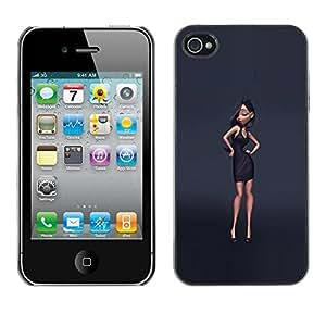 LASTONE PHONE CASE / Carcasa Funda Prima Delgada SLIM Casa Carcasa Funda Case Bandera Cover Armor Shell para Apple Iphone 4 / 4S / Design Fashion Grey Style