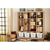 Better Homes and Gardens 16-Cube Organizer, Espresso (Weathered)
