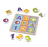 Melissa & Doug First Play Wooden ABC-123 Chunky Puzzle (9 pcs)