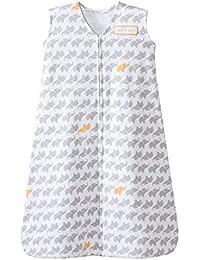 SleepSack 100% Cotton Wearable Blanket, Gray Elephant...