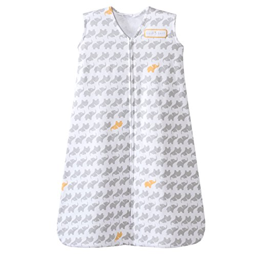 Halo HALO SleepSack Wearable Blanket 100% Cotton Elephant Graphics, LG - Grey